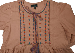Embroidered Cotton Day Dress