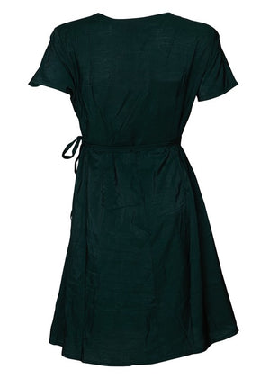 Wrap Dress in Emerald Green