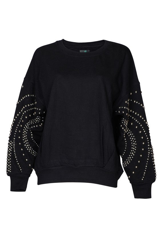 Oversized Studded Sweatshirt