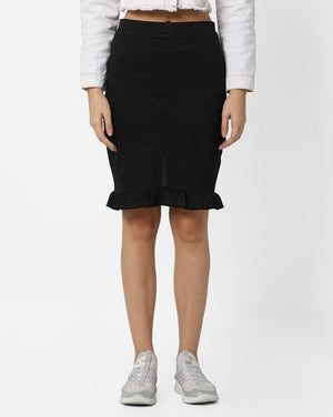 Pencil Skirt with Frill