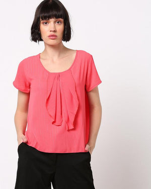 Ruffled Front Top