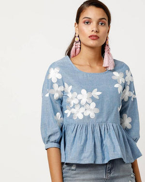 All-Over Embroidered Top