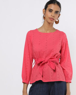 Hakoba Pink Top