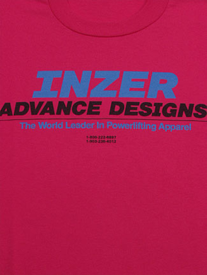 Inzer Logo Pink T Shirt-Inzer Advance Designs, The World Leader In Powerlifting Apparel