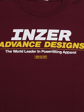 Inzer Logo Maroon T Shirt-Inzer Advance Designs
