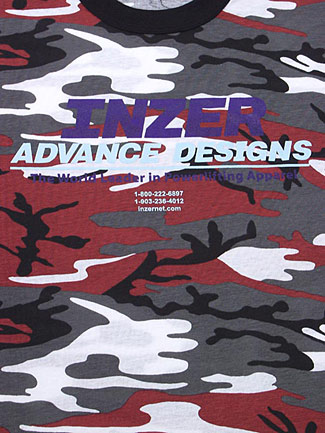 Inzer Logo Red Camo T-shirt-Inzer Advance Designs