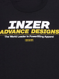 Inzer Logo Black T Shirt-Inzer Advance Designs, The World Leader In Powerlifting Apparel