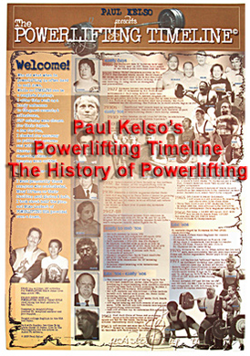 Powerlifting Timeline-Inzer Advance Designs, Powerlifting History poster for gym and powerlifting workout area
