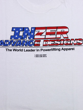 Inzer Logo Stars & Stripes T Shirt-Inzer Advance Designs