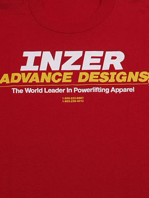 Inzer Logo Red T Shirt-Inzer Advance Designs