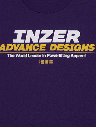 Inzer Logo Purple T Shirt-Inzer Advance Designs