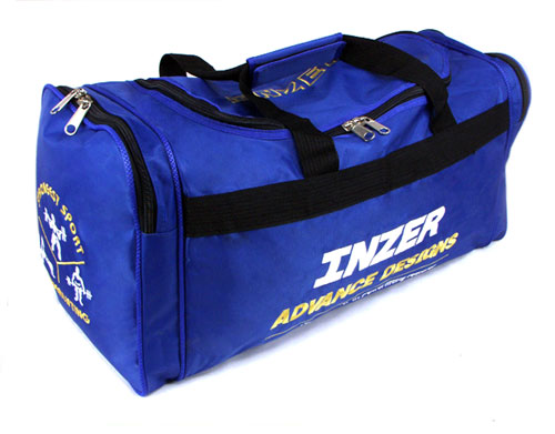 Gym Bag-Inzer Advance Designs, with powerlifting strongest sport embroidered artwork