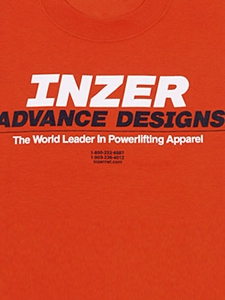 Inzer Logo Orange T Shirt-Inzer Advance Designs