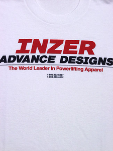 Inzer Logo White T Shirt-Inzer Advance Designs