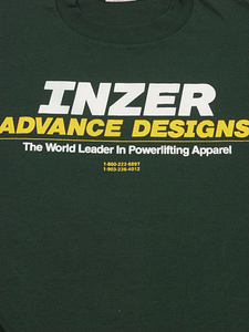 Inzer Logo Forest Green Powerlifting T Shirt-Inzer Advance Designs, The World Leader In Powerlifting Apparel And Powerlifting Belts
