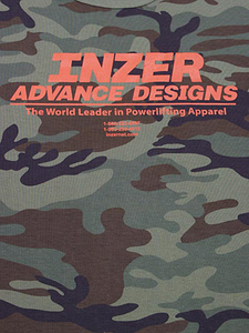 Inzer Logo Green Camo T-shirt-Inzer Advance Designs, The World Leader In Powerlifting Gear And Power Apparel