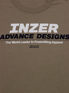 Inzer Logo Khaki T Shirt-Inzer Advance Designs