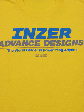 Inzer Logo Yellow T Shirt-Inzer Advance Designs