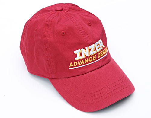 Red Logo Cap-Inzer powerlifting. The World Leader In Powerlifting Belts and Powerlifting Gear