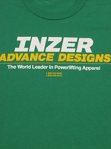 Inzer Logo Kelly Green Powerlifting T-Shirt-Inzer Advance Designs, The World Leader In Powerlifting Apparel And Powerlifting Belts