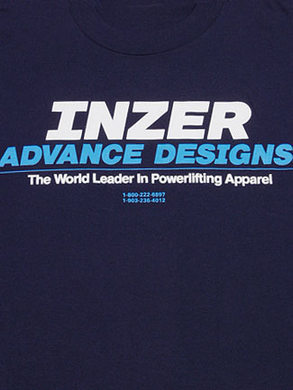 Inzer Logo Navy Blue T Shirt-Inzer Advance Designs