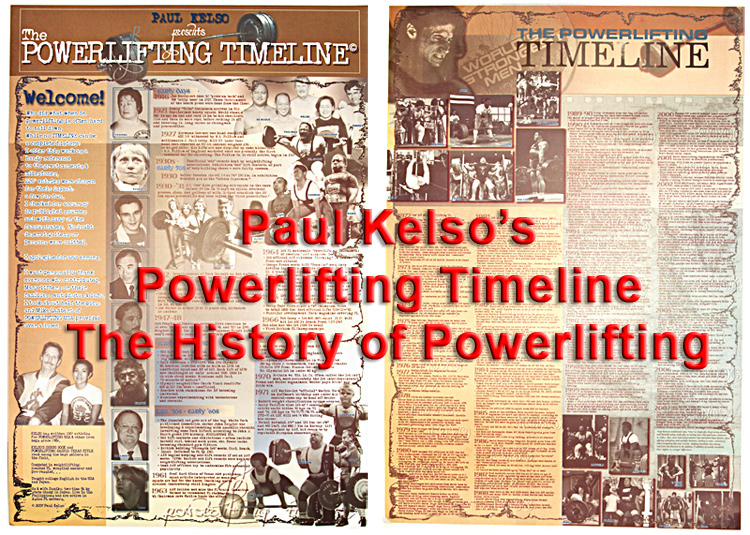 Powerlifting Timeline-Inzer Advance Designs, Powerlifting History diptych poster for powerlifting gym and workout inspiration