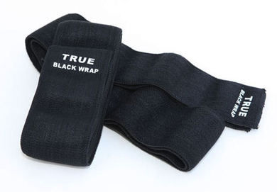 True Black Knee Wraps-Inzer Advance Designs. Powerful knee support for workouts, powerlifting, bodybuilding, strongman and crossfit
