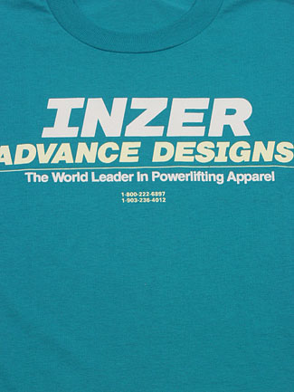 Inzer Logo Jade T Shirt-Inzer Advance Designs, The World Leader In Powerlifting Apparel And Powerlifting Belts