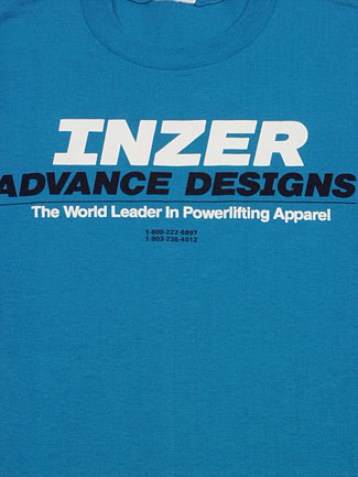 Inzer Logo California Blue T Shirt-Inzer Advance Designs, The World Leader In Powerlifting Apparel And Powerlifting Belts