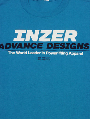 Inzer Logo California Blue T Shirt-Inzer Advance Designs