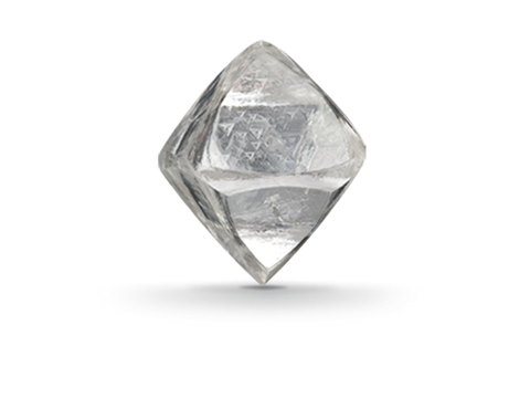 rough cut diamond straight from the earth