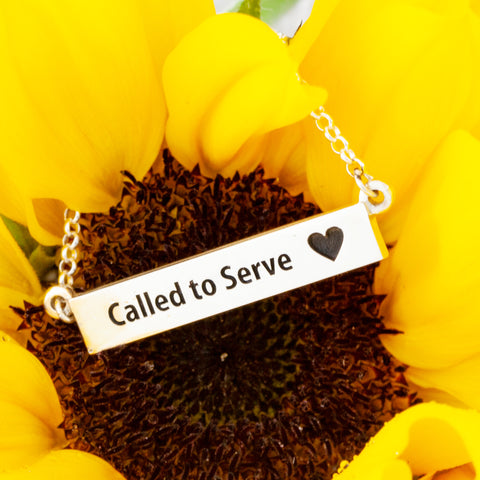 called to serve - missionary jewelry - mission necklace - lds missionary - lds missionaries- latter day saints - lds gifts - bar necklace personalized