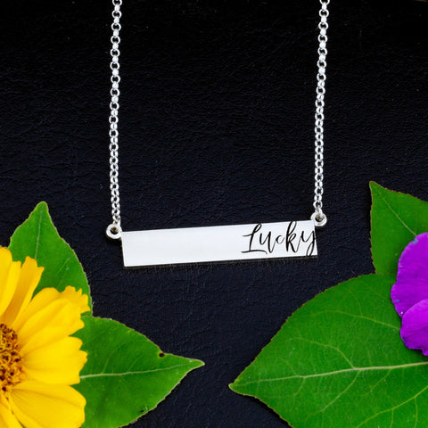 bar necklace - bar necklace name - bar necklace engraved - custom made jewelry - personalized bar necklace - engraving necklaces - bar necklace personalized