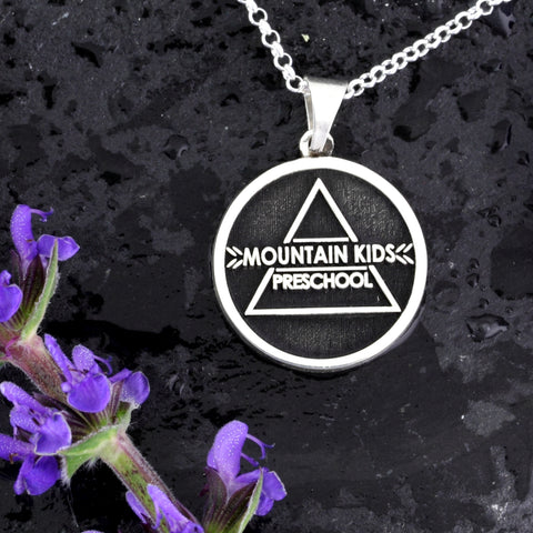 employee engagement award - logo jewelry - company logo pendant