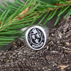 family crest signet ring coat of arms ring family jewelry