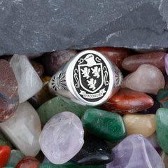 family crest signet ring design your own jewelry