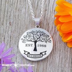 family tree precision cut necklace deep cut family tree jewelry