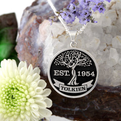 deep cut embossed family tree necklace family tree jewelry