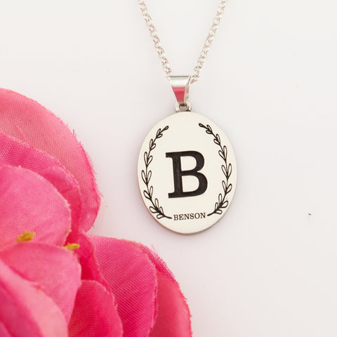 Personalized initial pendant - design your own necklace - initial jewelry