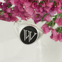 custom initial signet ring initial jewelry gifts for him