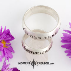 Easy to Use Templates for Rings - Choose style and Enter Mission, Missionary, Dates