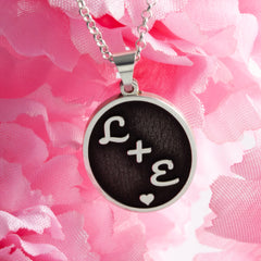 couples initial love jewelry love necklace initial necklace