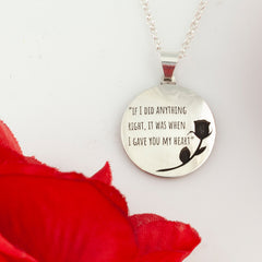 love jewelry love necklace quote necklace add your saying