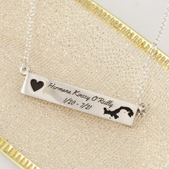missionary bar necklace - missionary jewelry Design your own Missionary Jewelry - add images and text and format