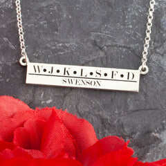 family necklace with family initials initial jewelry