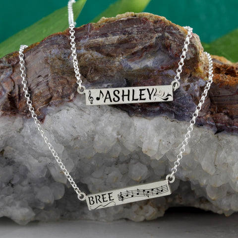 bar necklace - bar necklaces - bar necklaces personalized - necklace w name on it - personalized necklaces with names - design a necklace - custom made jewelry
