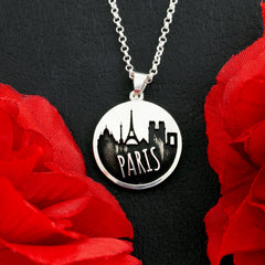 custom city skyline necklace choose your skyline and optional text
