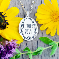 Custom Design your own travel necklace travel jewelry