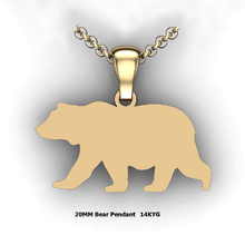 Load image into Gallery viewer, custom bear necklace you design personalized bear necklace customized jewelry 14K YG