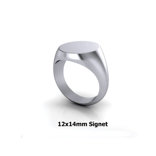 Personalized sterling silver signet ring precision cut